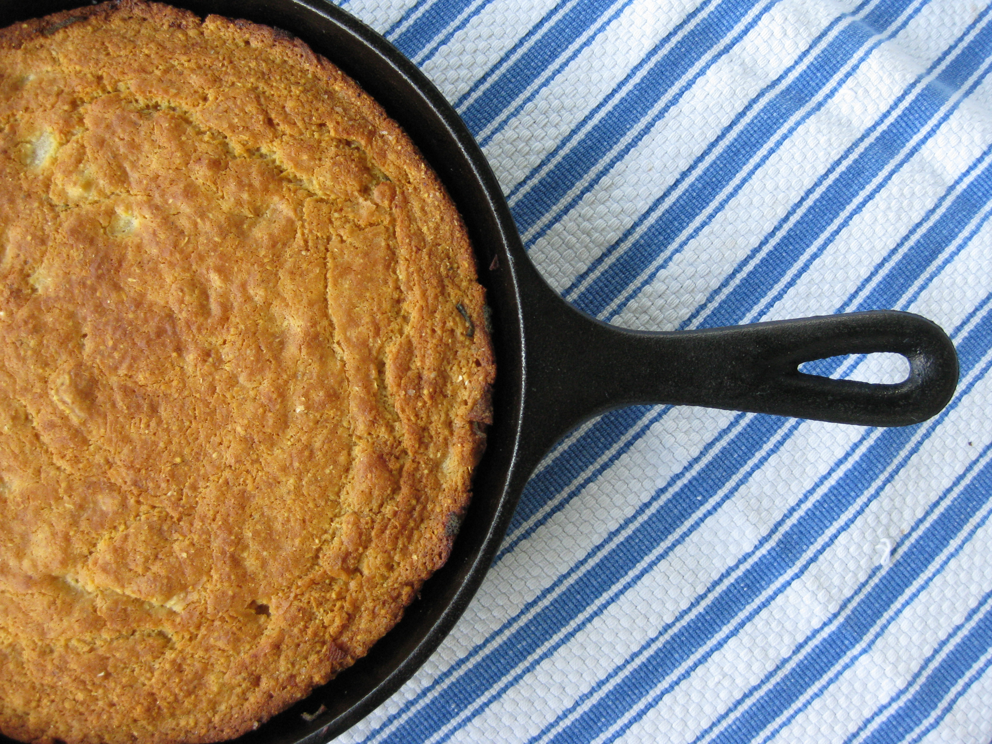 Southern Cornbread with Buttered Pears