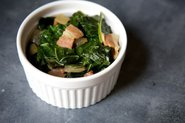 Beer and Bacon Braised Collard Greens