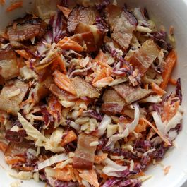 Root-Veggie Slaw with Crispy Bacon