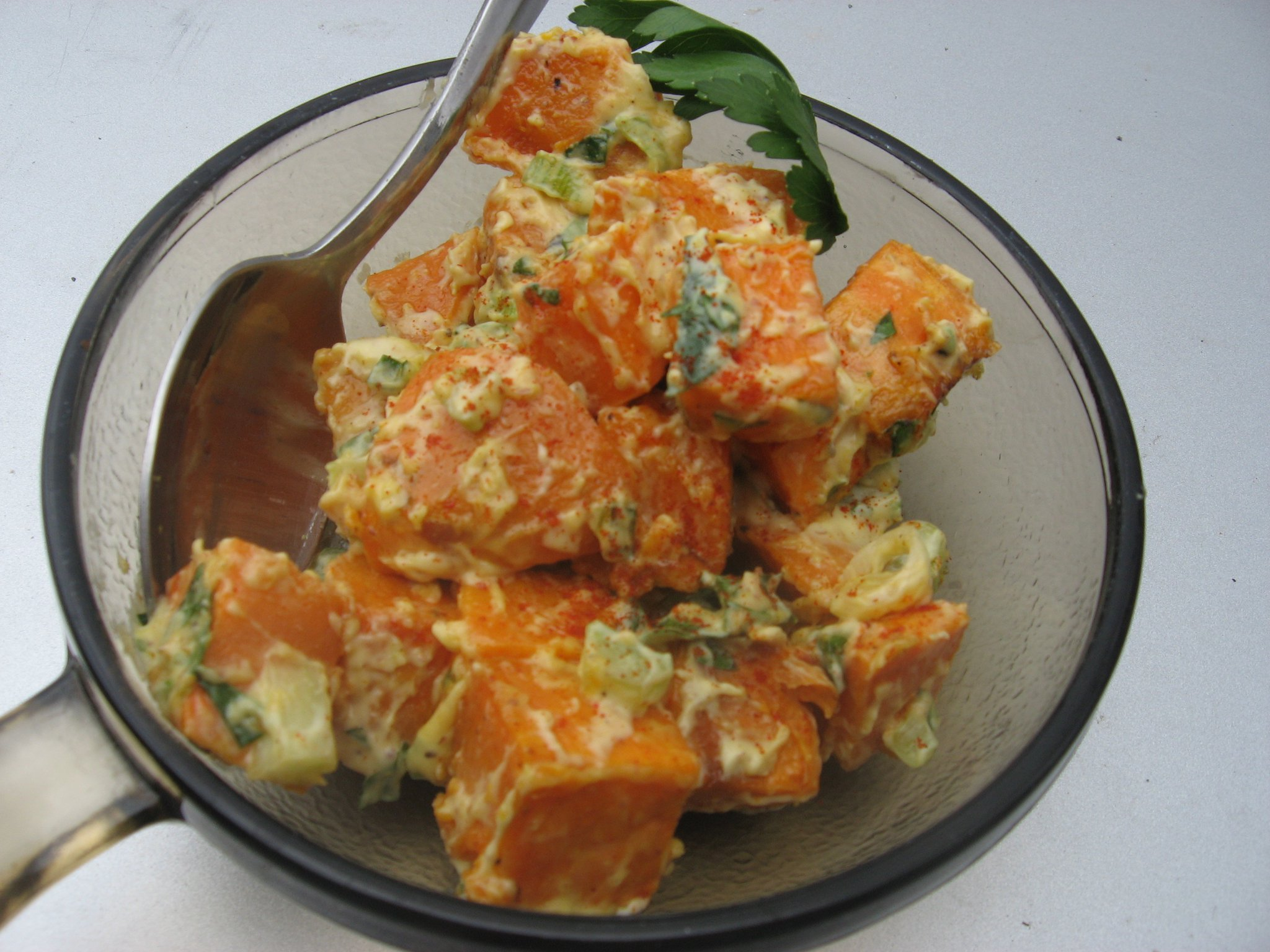 Creamy Dijon Sweet Potato Salad