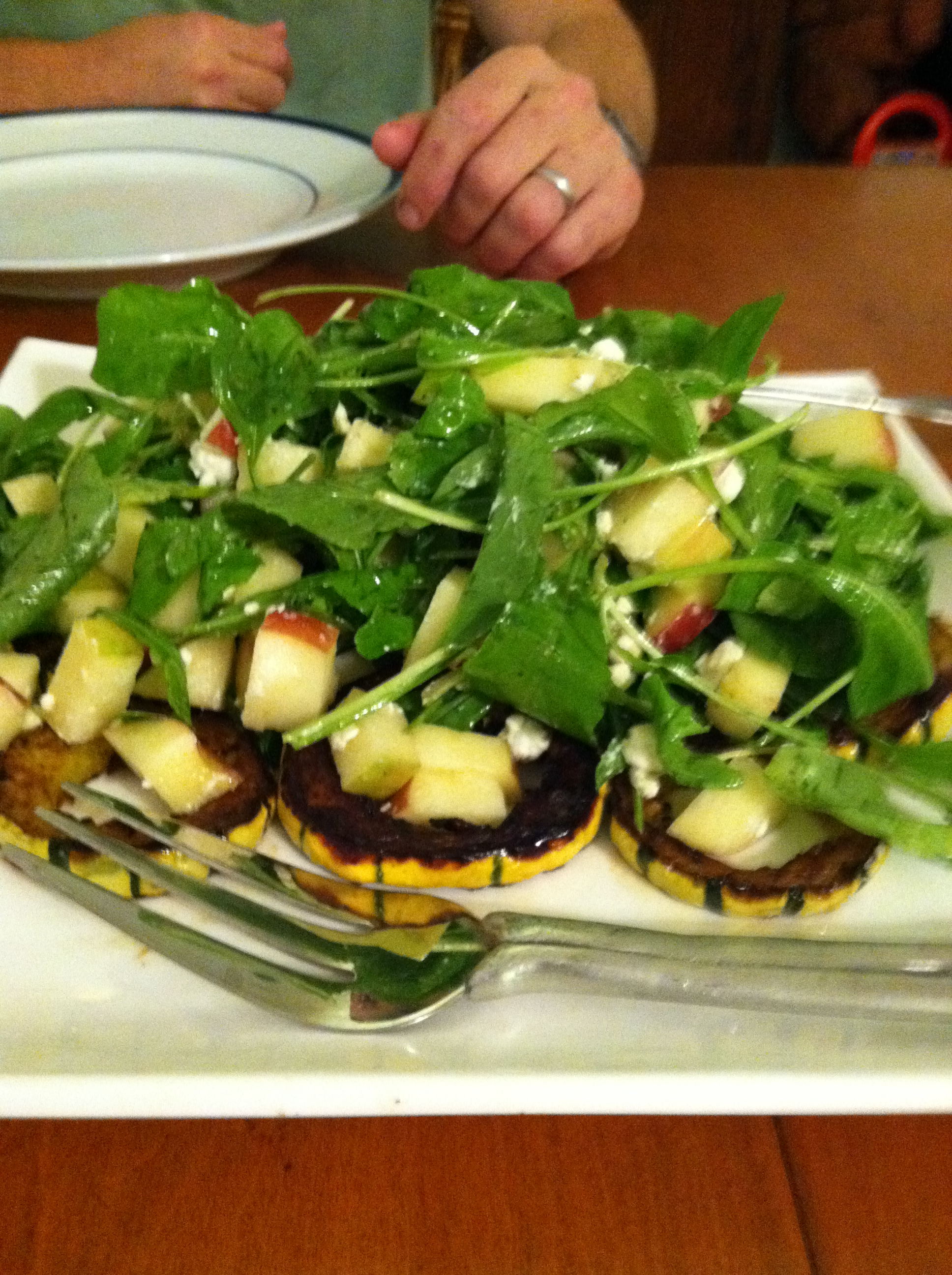 Arugula, Delicata, and Honeycrisp Salad
