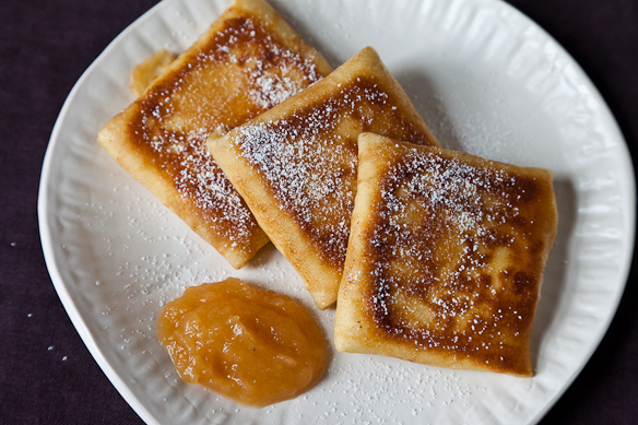 Lemony Cheese Blintzes