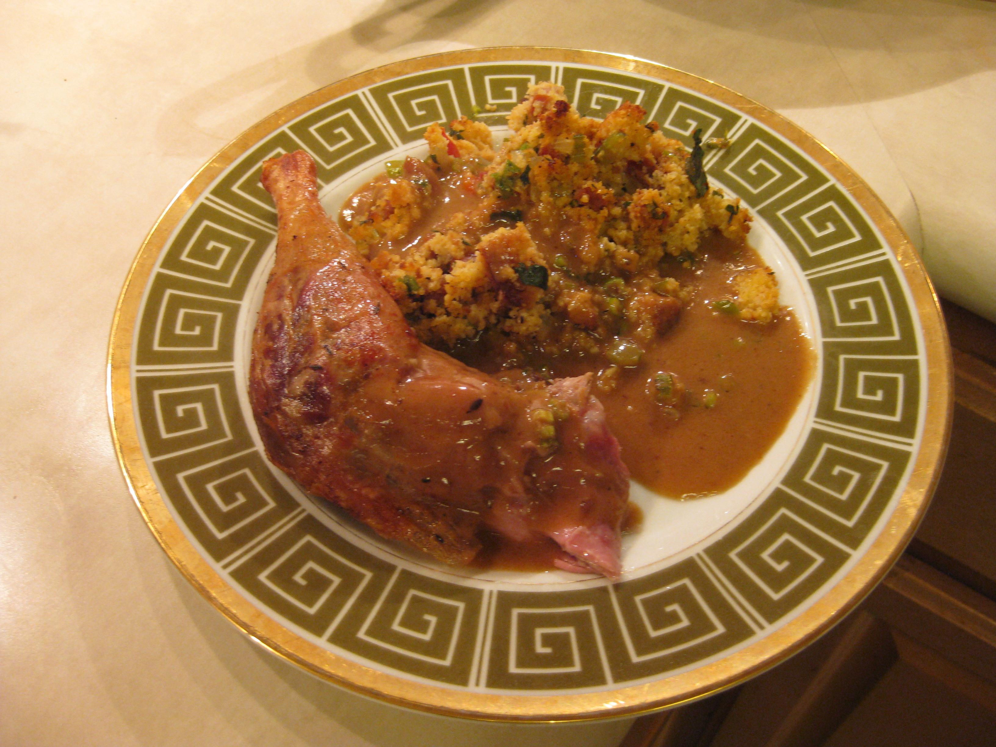 Cajun Roast Duck with Rich Brown Gravy