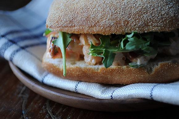 Shrimp and Chorizo Sandwich