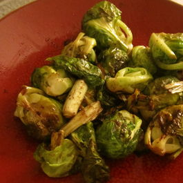 Roasted Leeks and Brussels Sprouts