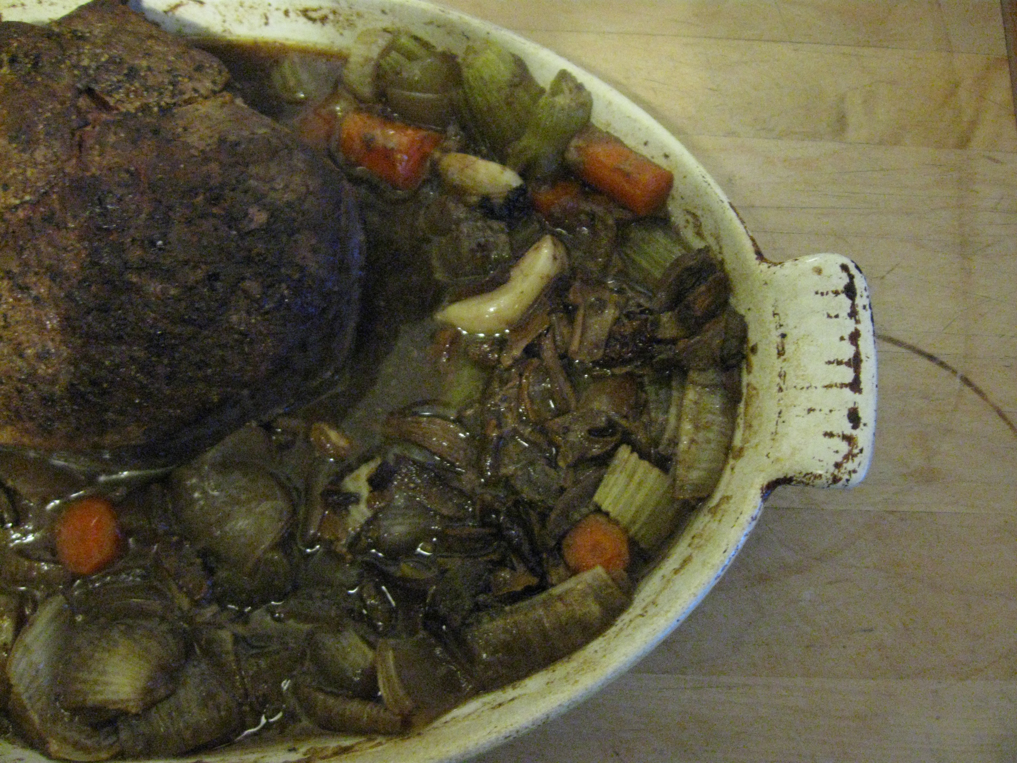 Beer-Braised Bison Roast