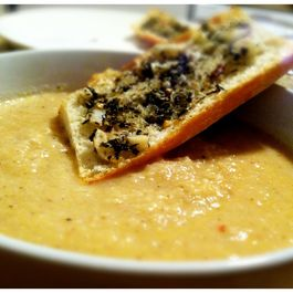Smoky Roasted Cauliflower and Celery Root Soup