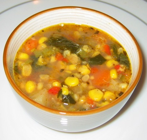 Spiced Corn Chowder Provencal