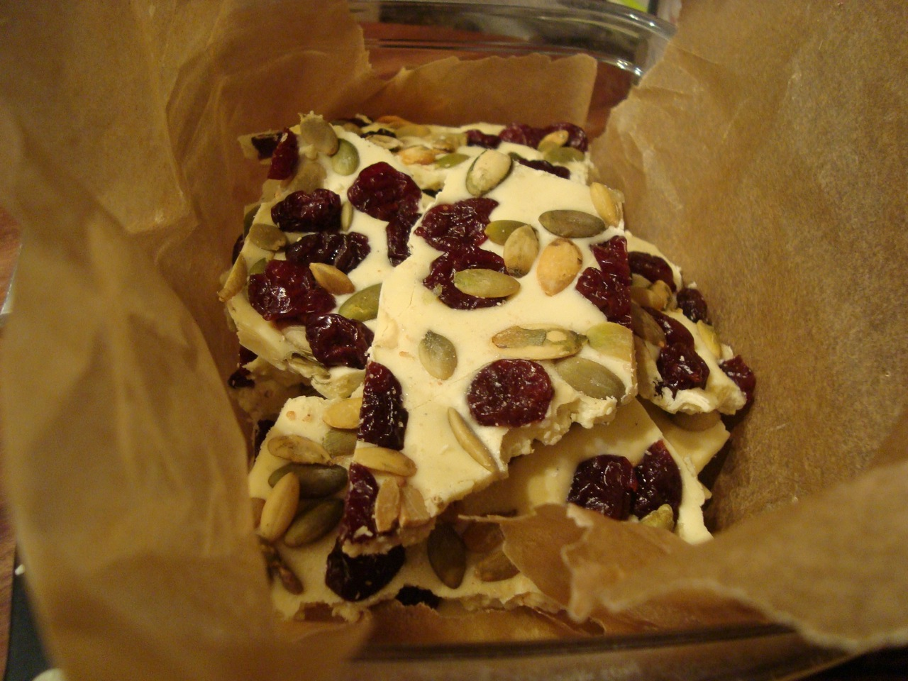 White Chocolate Holiday Bark