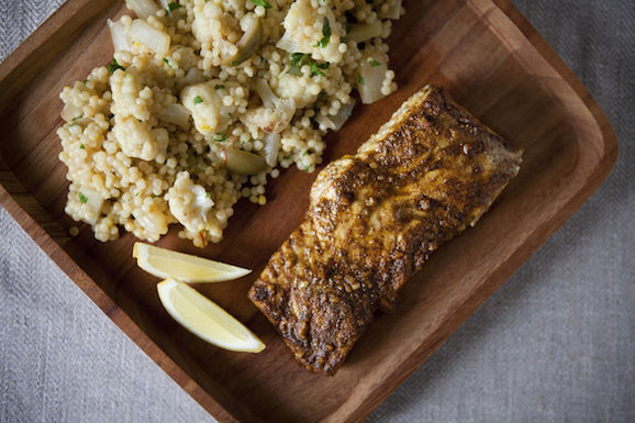 halibut and couscous