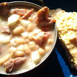 "Sunday Supper-part I  ""Italian Country Ham and Beans"""