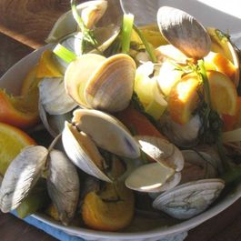 clams with fennel and oranges