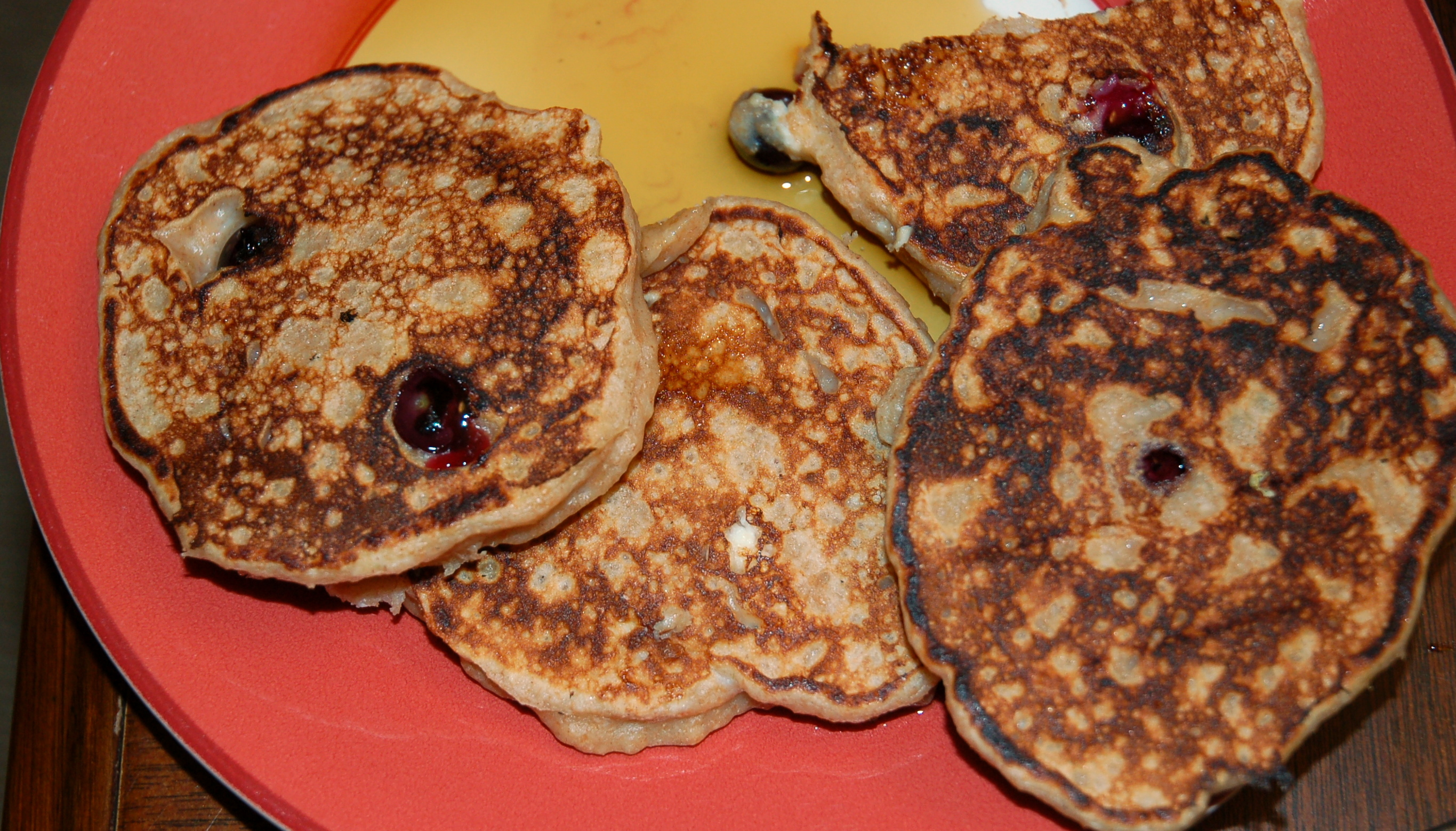 Whole-wheat Lemon-Blueberry-Ricotta pancakes