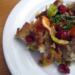 Butternut Squash and Leek Bread Pudding