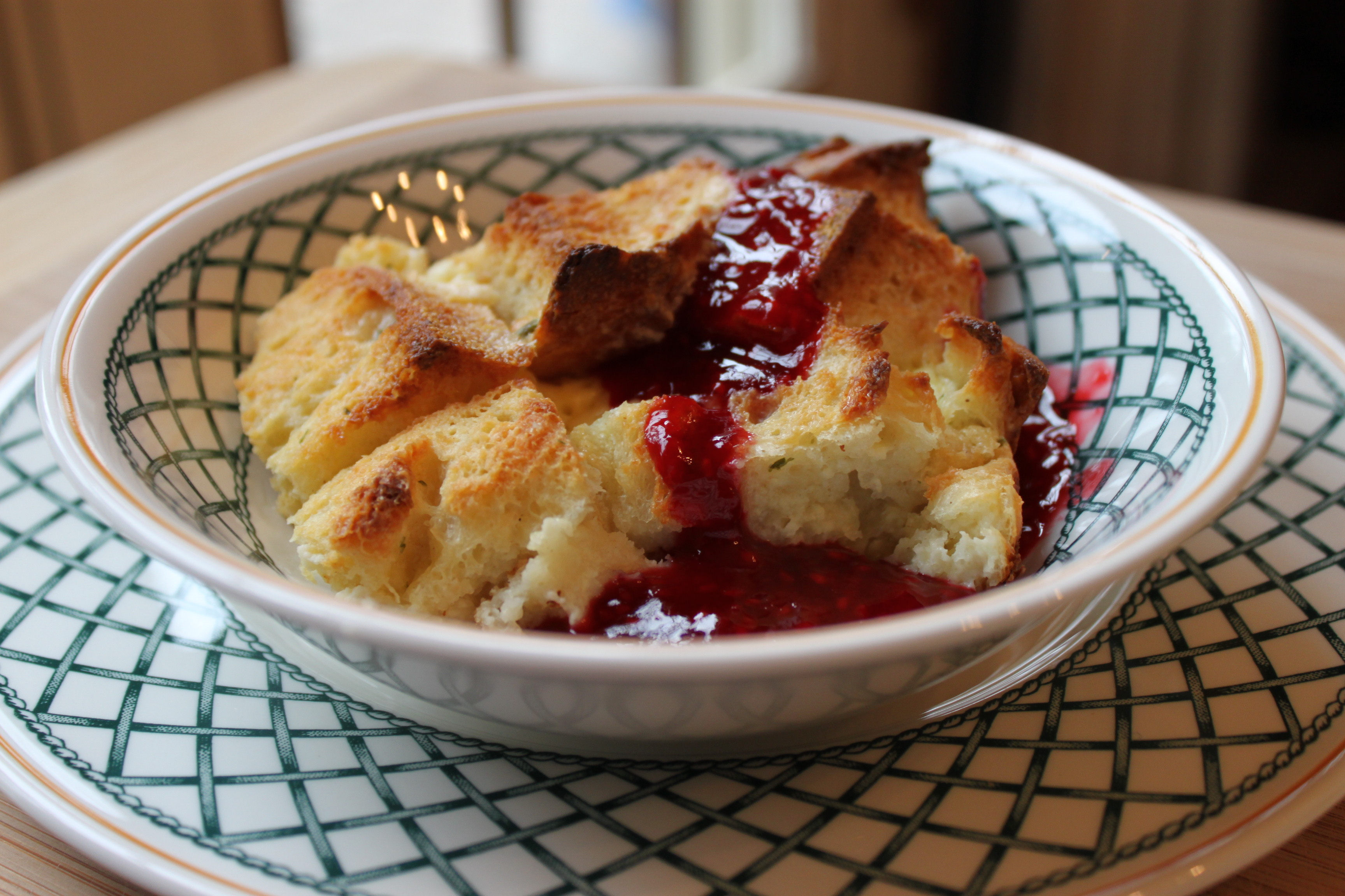 Herby Sweet and Savory Bread Pudding