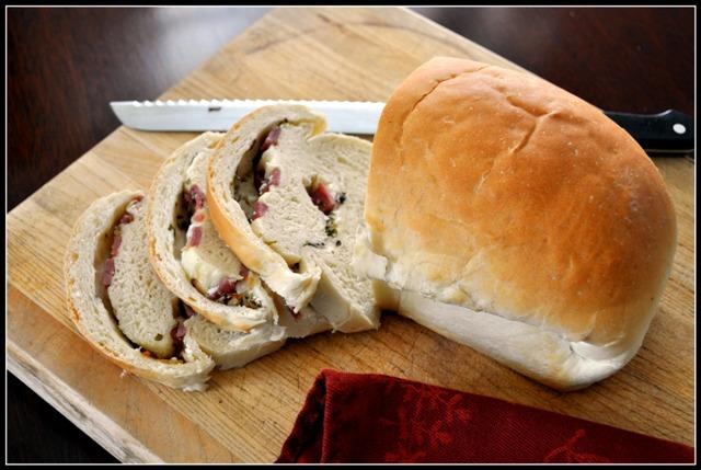 Salami Swirl Bread