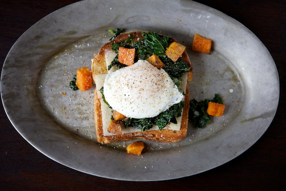 Kale toast from Food52