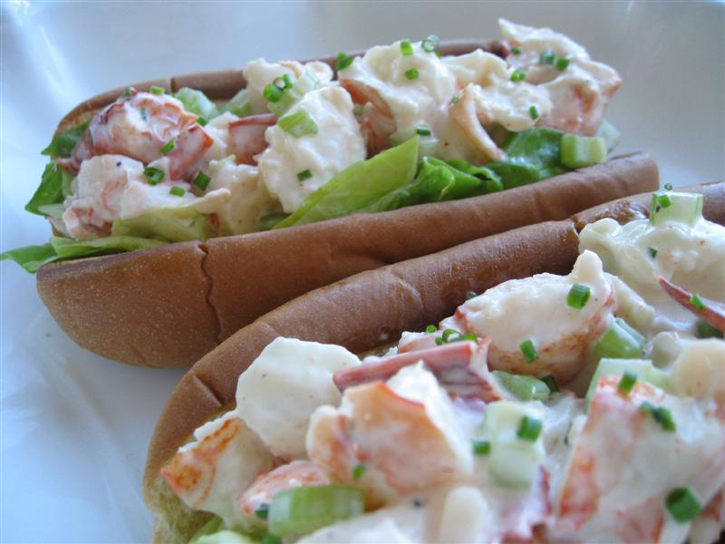 New England Lobster Rolls with Lemon Chive Mayonnaise