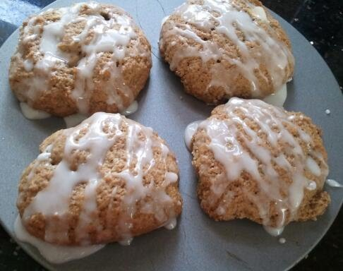 Apple Spiced Glazed Cookies