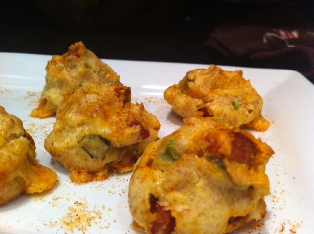 Paprika-Scented Manchego Chorizo Puffs
