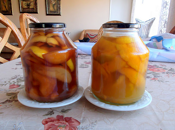 Homemade Orange and Pear Liqueurs