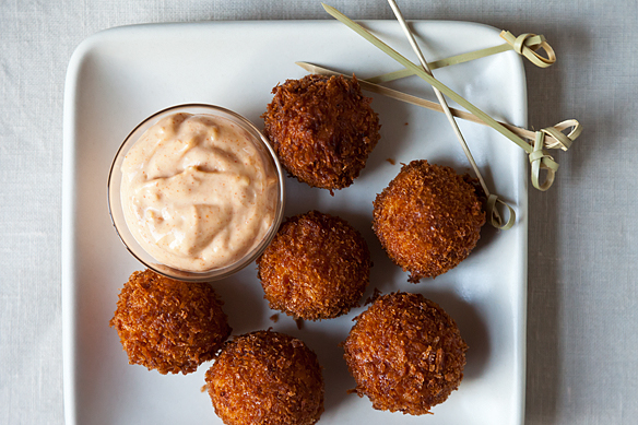 Serrano Ham and Manchego Croquetas on Food52