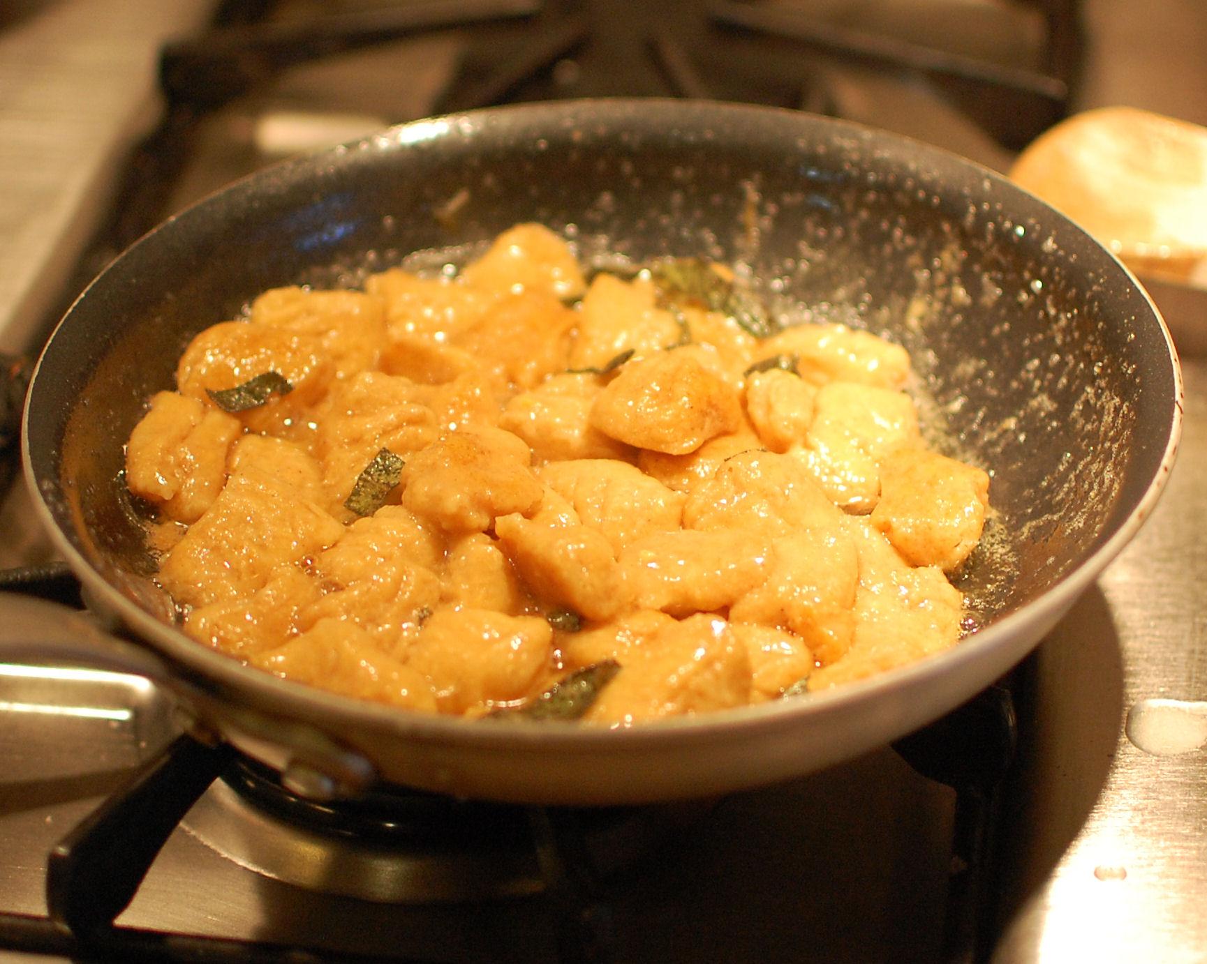 Sweet Potato Gnocchi with Sage and Walnuts