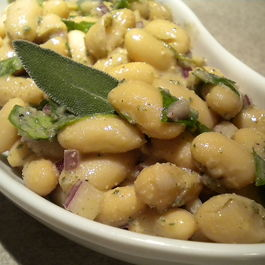 Tuscan Bean Salad with a Walnut Sage Vinaigrette