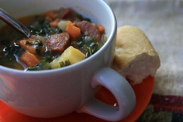 Sausage, Kale, and Sweet Potato Soup