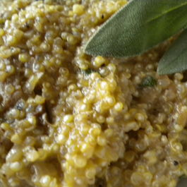 "Quinoa ""Risotto"" with Walnuts, Sage and Porcini"