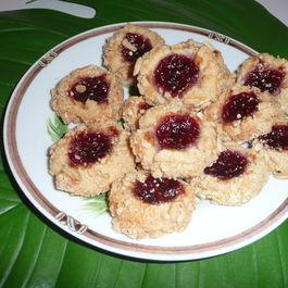 Raspberry Almond  Cookies
