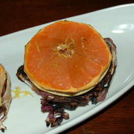 Grilled Radicchio with Bruleed Grapefruit