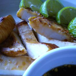 Lime and Sweet Chili Grilled Squid Steaks