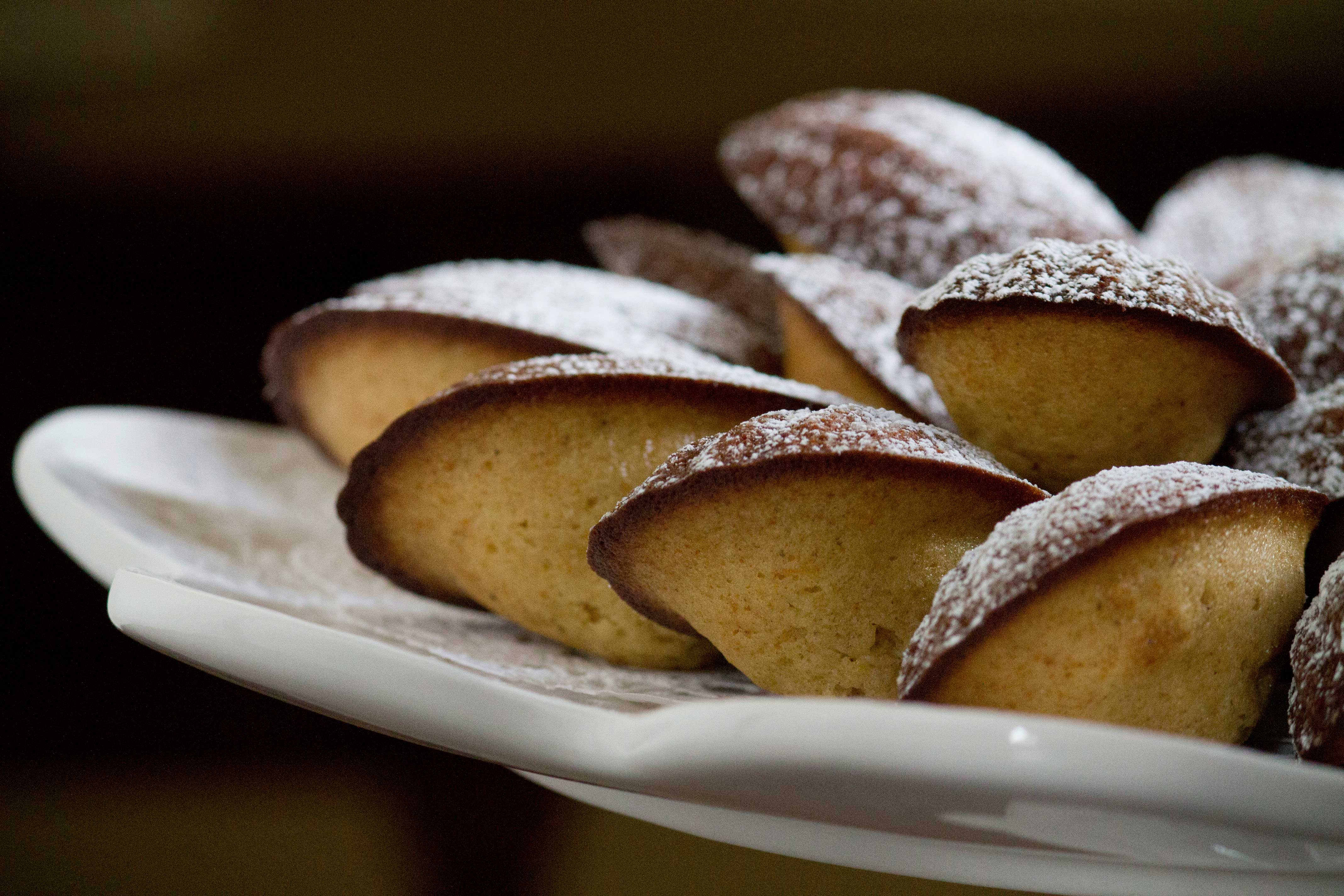 Orange Spiced Madeleines (baked when I'm tired of Winter)