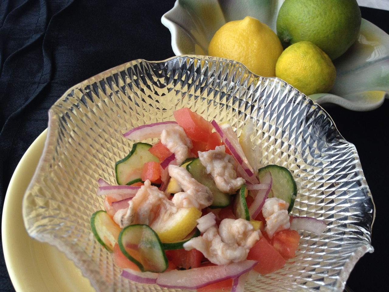 Simple Seabass-Salad Ceviche