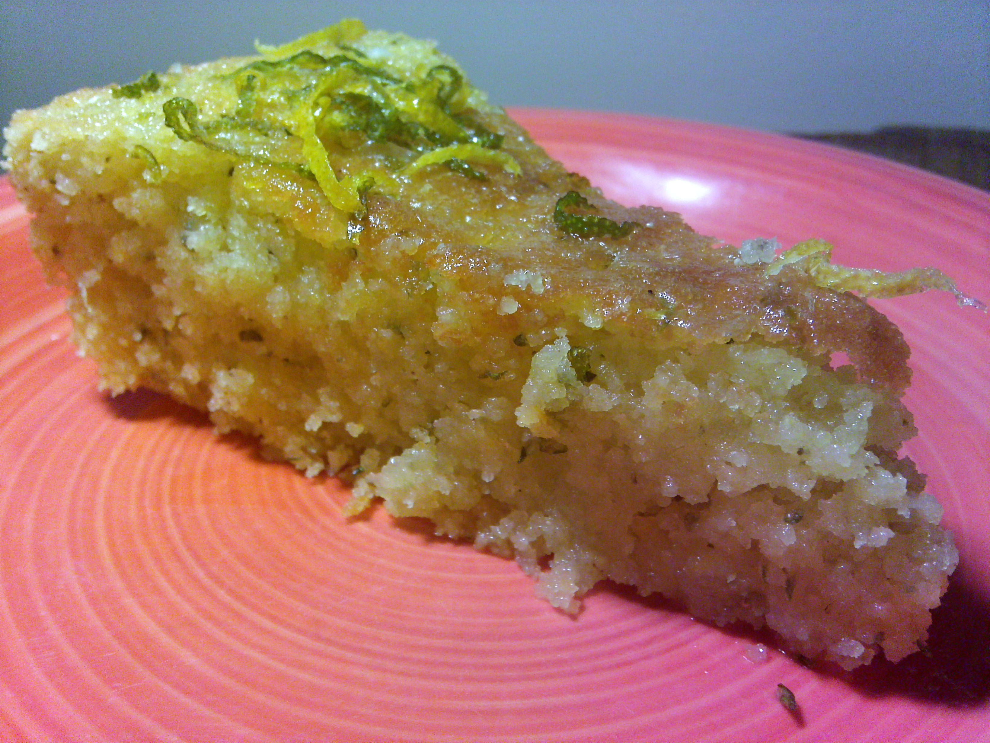 Lemon and Rosemary Cake with Citrus Glaze