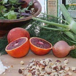 Blood Orange, Fennel, Goat Cheese and Hazelnut Salad