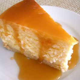 Classic Cheesecake with Salted Caramel Sauce