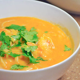 Thai Shrimp Fire Pot Soup
