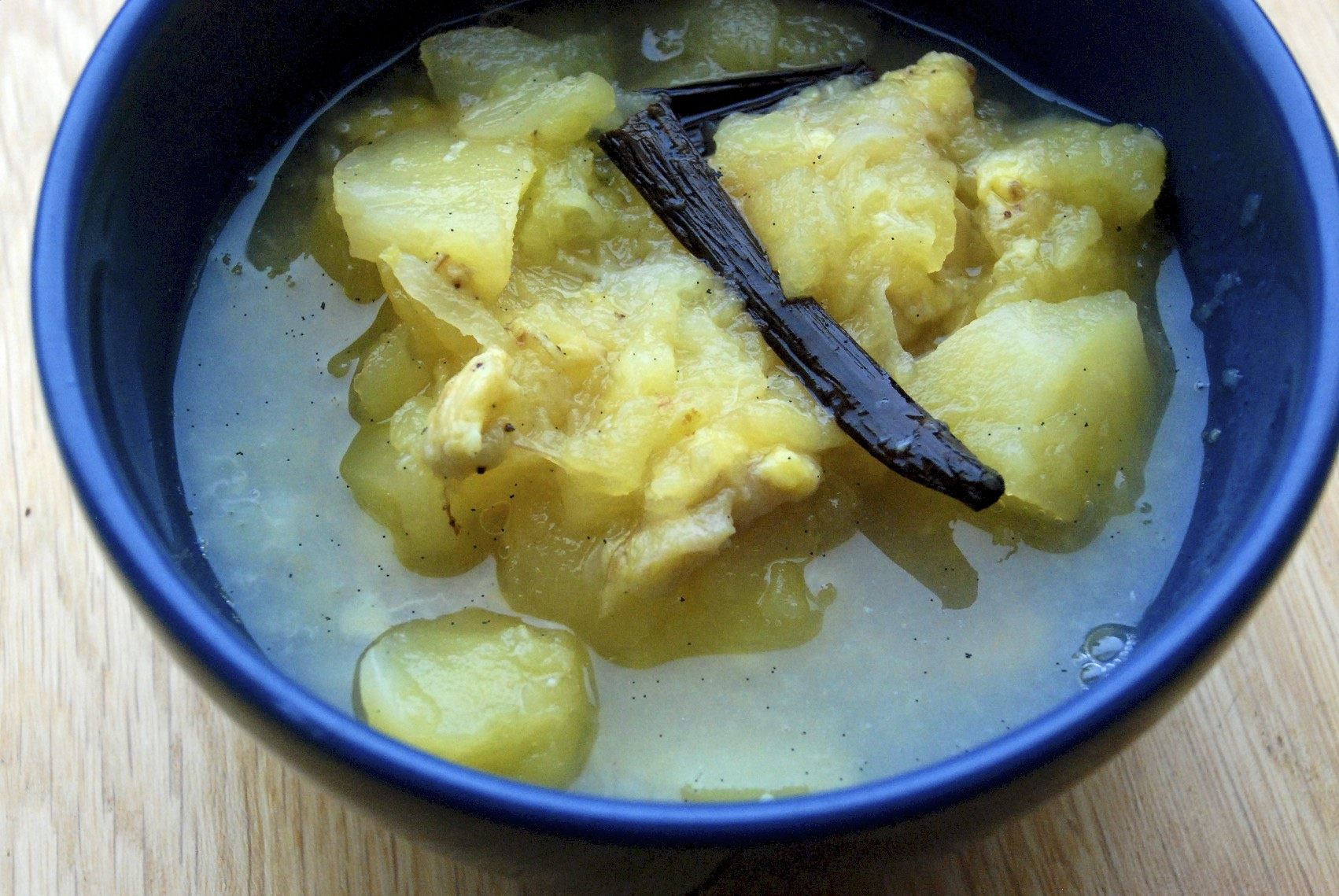 Vanilla-Stewed Apples + Bananas