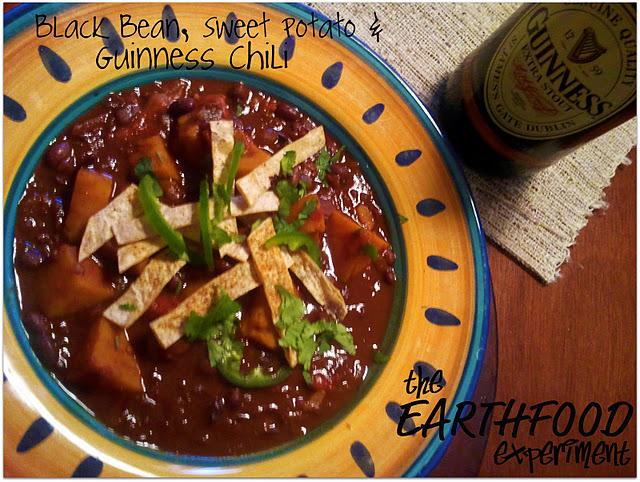 Black Bean, Sweet Potato, and Guinness Chili