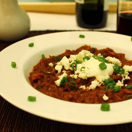 Vegetable Chili with Wine and Chocolate