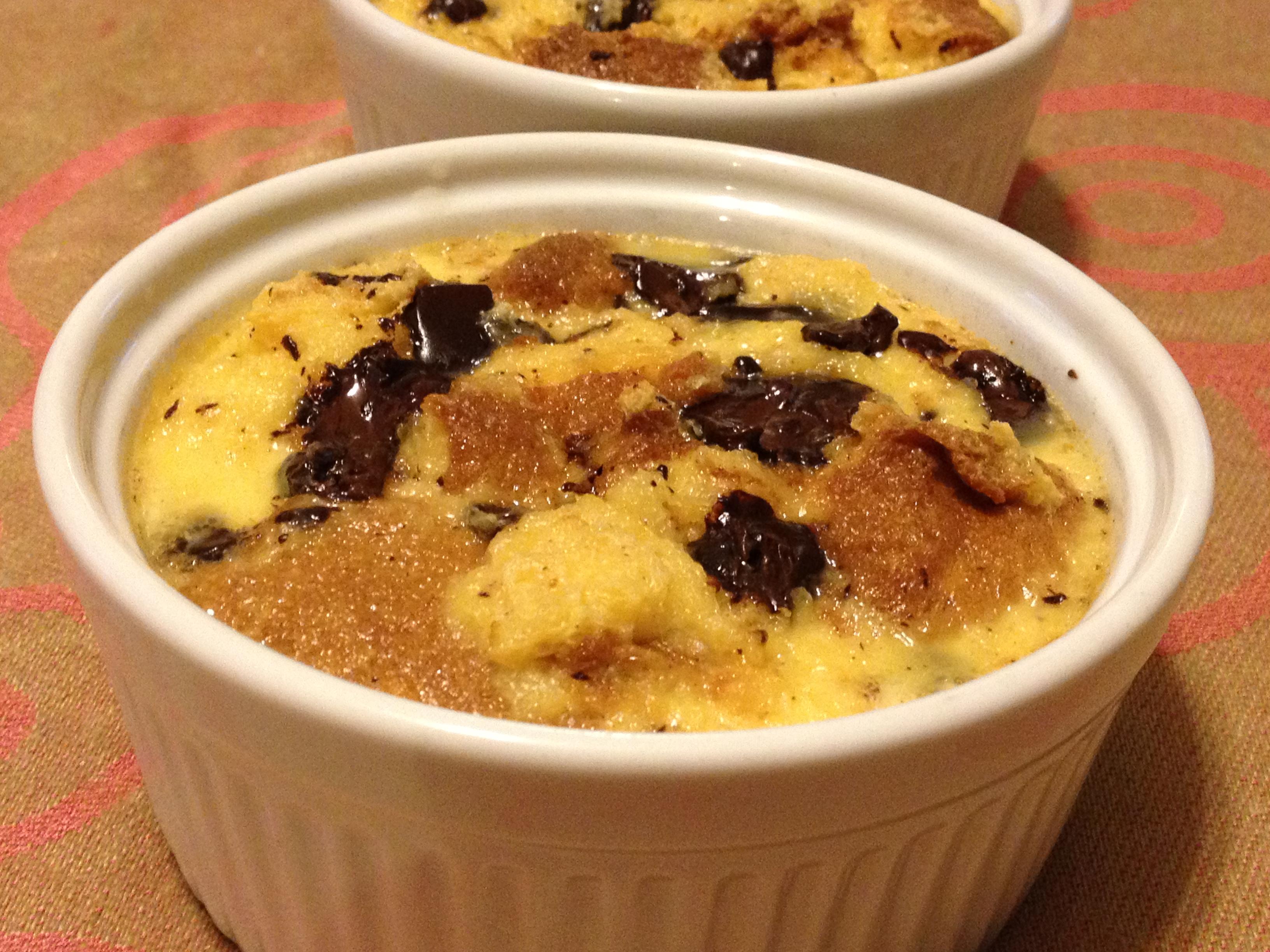 Pandoro Bread Pudding with Chocolate and Orange