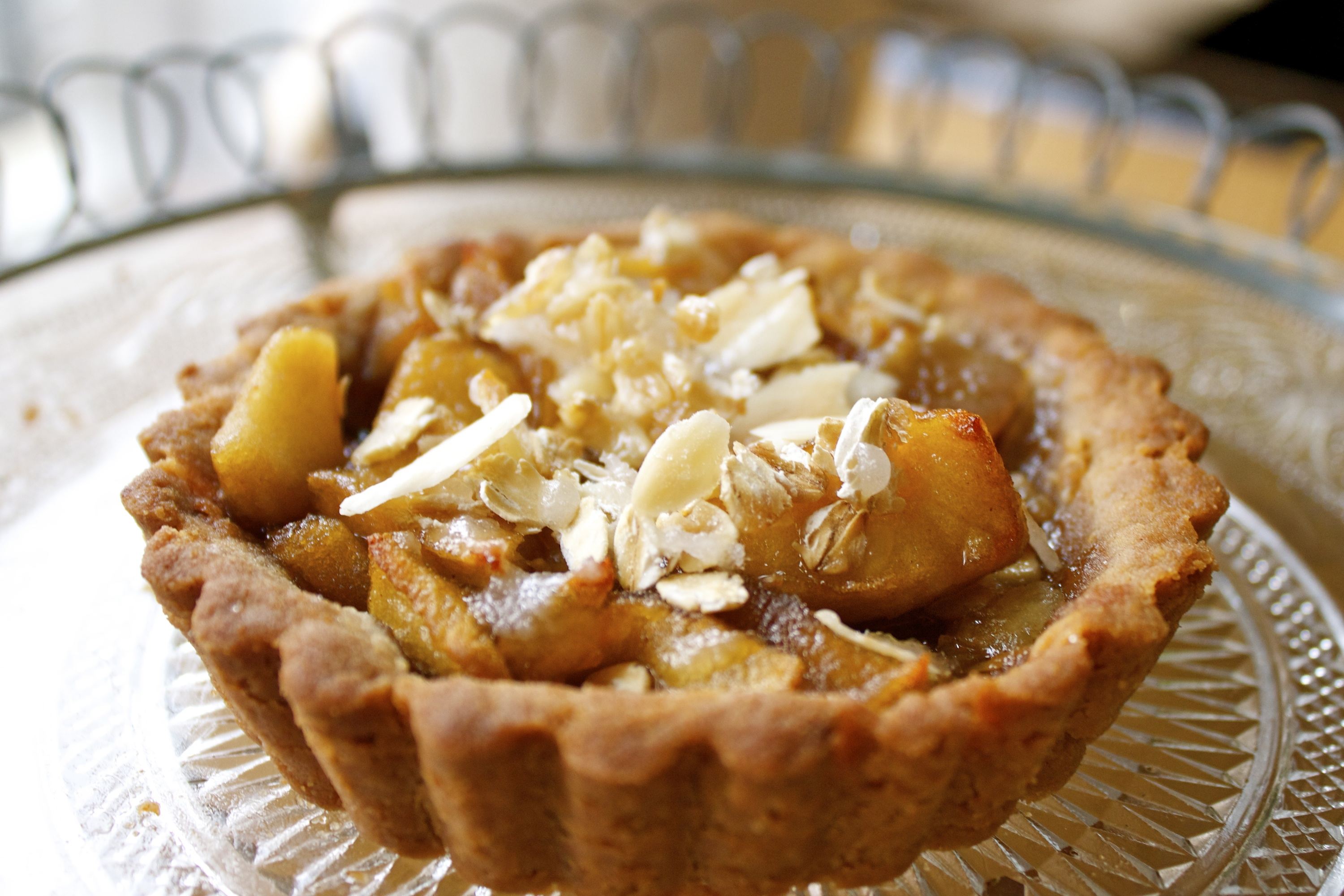 Apple Tartlets With An Olive Oil And Buckwheat Crust Recipe ...