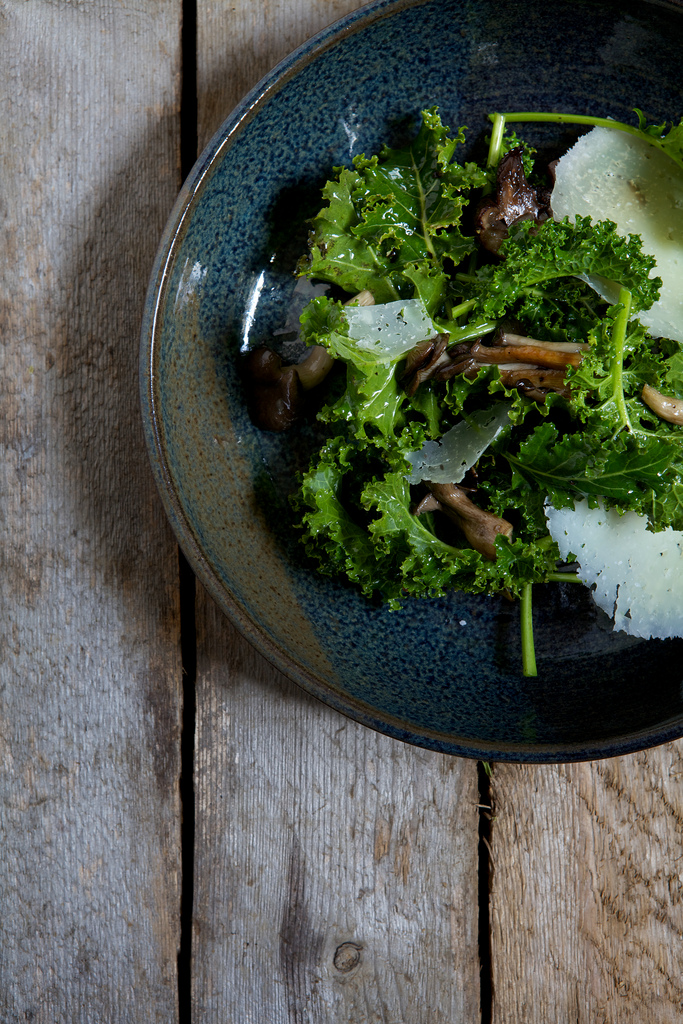 Winter Kale & Wild Mushroom Salad with Manchego