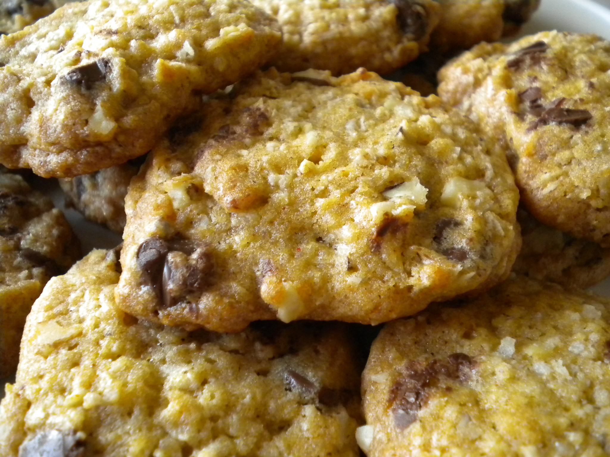 """""""Kicked"""" Up Chocolate Chip Oatmeal Cookies"""