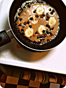 Spiced Banana chocolate chip pancakes (gluten free, dairy free, nut + corn free)