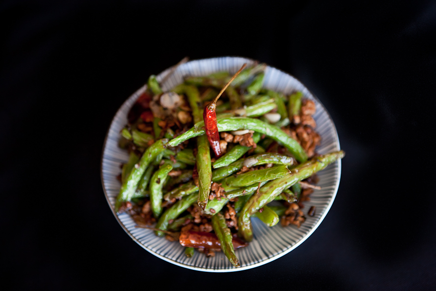 Sichuan Dry-Fried Green Beans