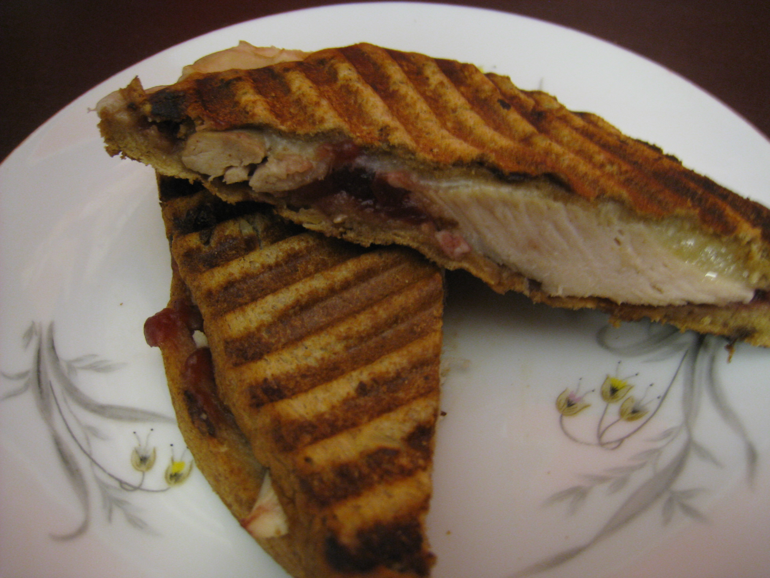 Dark Meat Turkey Panini with Montasio Cheese-Leftover Heaven