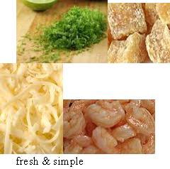 Fresh and Zesty ginger shrimp pizza